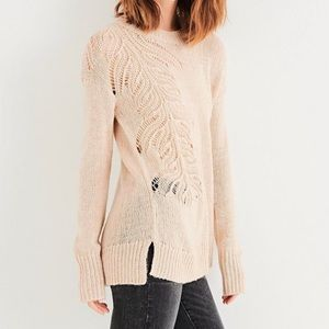 Lucky Brand Leaf Pointelle Stitch Sweater